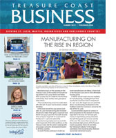 ONE YEAR SUBSCRIPTION TO TREASURE COAST BUSINESS MAGAZINE